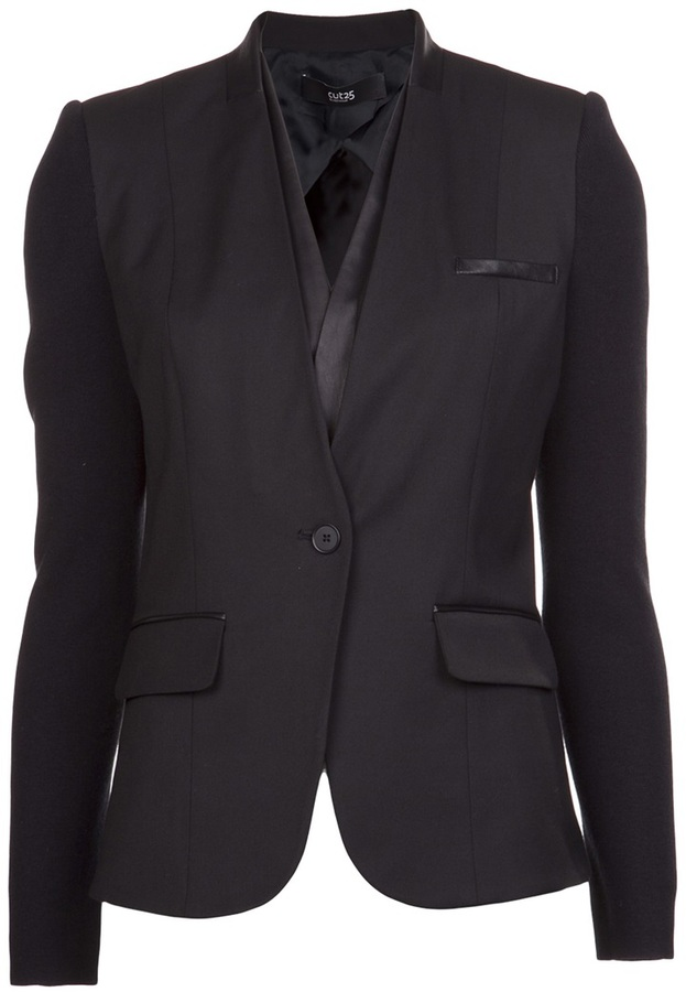 Yigal Azrouel Cut 25 By collar insert blazer
