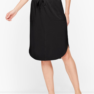 Talbots Lightweight Stretch Woven Midi Skirt