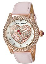 Betsey Johnson Women's Quartz Brass and Leather Casual Watch, Color:Pink (Model: BJ00019-75)