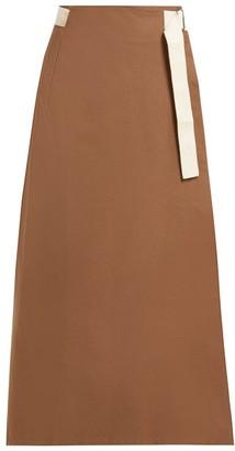 ALBUS LUMEN Nada Cotton Wrap Skirt - Womens - Brown
