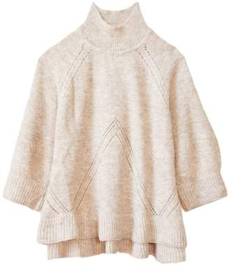 Apiece Apart Victoria Mock Neck Knit in Wheat