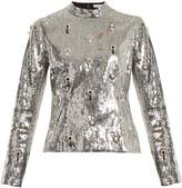 Erdem Tonya sequin-embellished top