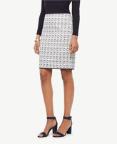 Ann Taylor Petite Textured Tweed Pencil Skirt