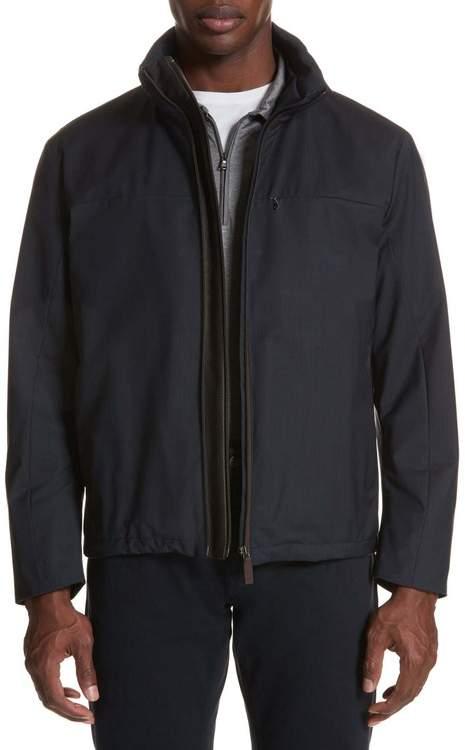Canali Regular Fit Wool Jacket