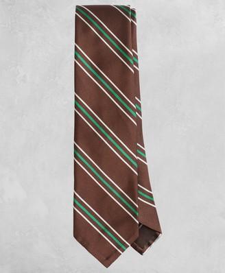 Brooks Brothers Golden Fleece Wide Split-Stripe Silk Tie