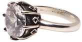 Femme Metale Jewelry Engaging Ring Clear