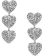 Kate Spade Women's Pavé Cubic Zirconia Triple Drop Heart Earrings