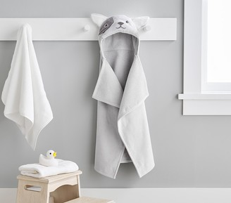 Pottery Barn Kids French Bulldog Baby Hooded Towel
