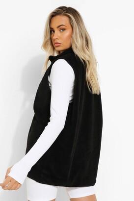 boohoo Zip Through Fleece Gilet