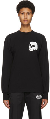 Palm Angels Black Skull Long Sleeve T-Shirt