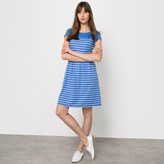 R édition Short-Sleeved Striped Milano Knit Dress