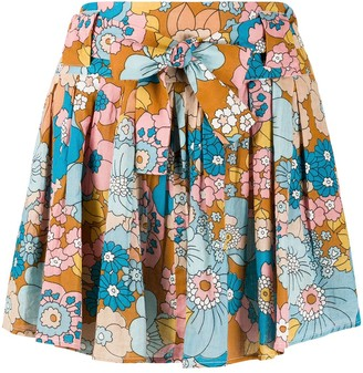 Dodo Bar Or Flared Floral-Print Skirt