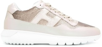 Hogan Interactive sequin low-top sneakers
