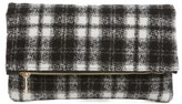 BP Plaid Foldover Clutch - Black
