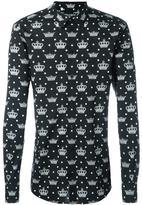 Dolce & Gabbana crown print shirt - men - Cotton - 40
