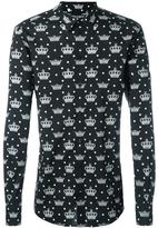 Dolce & Gabbana crown print shirt