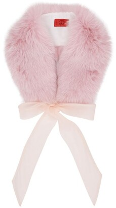 Canadian Hat Bow-Detail Fox Fur Collar