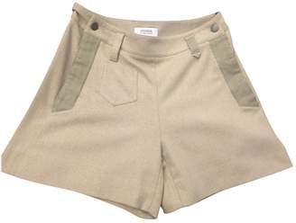 Sonia Rykiel Sonia By Camel Wool Shorts for Women