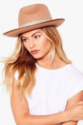 Nasty Gal Womens Diamante Fedora Hat - Beige - ONE SIZE, Beige