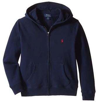 Polo Ralph Lauren Collection Fleece Full-Zip Hoodie (Big Kids) (Cruise Navy) Boy's Fleece