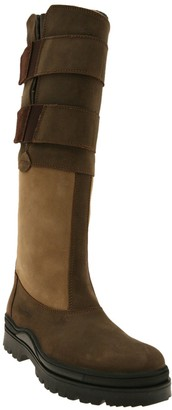 Suffolk 2 Tone Standard Leg Leather Country Boot - Brown/Light Brown Size 39