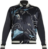 Valentino Panther-print Bomber Jacket