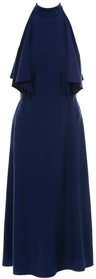 Prada Draped Sleeveless Midi Dress