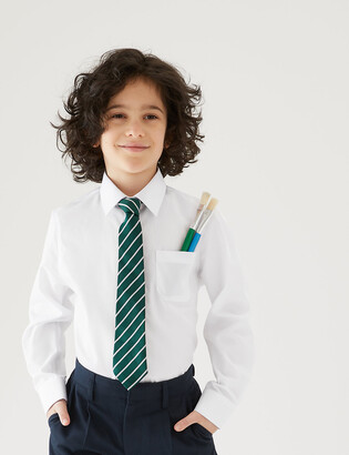 Marks and Spencer 2 Pack Boys' Regular Fit Non-Iron Shirts