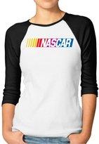 Agongda T-shirts Women's NASCAR Chase The Cup Sprint Cup Series 3/4 Sleeve Raglan T-Shirt