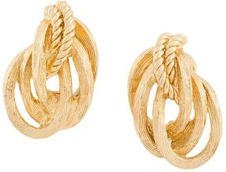 Christian Dior Pre-Owned rope clip-on earrings