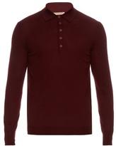 Bottega Veneta Long-sleeved Merino-wool Polo Shirt