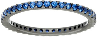 Diamonique or Simulated Gemstone Eternity Band Ring, Sterling