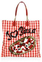 Dolce & Gabbana I Love Pizza Sequined Tote