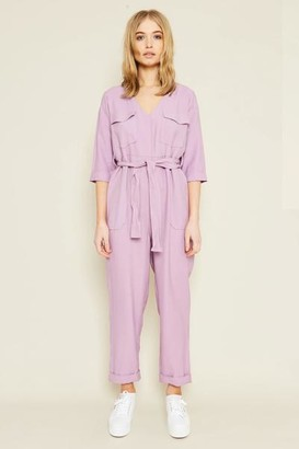 NATIVE YOUTH Phelps Lilac Jumpsuit - XS