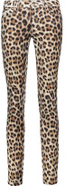 Just Cavalli Leopard-print stretch cotton-blend skinny jeans