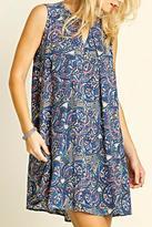 Umgee USA Keyhole Print Dress