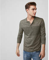 Express long sleeve striped henley
