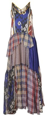 Forte Forte Patchwork tartan Organza dress