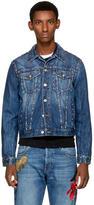 Alexander McQueen Indigo Studded Denim Jacket