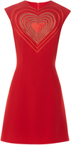 Christopher Kane Love Heart crepe mini dress