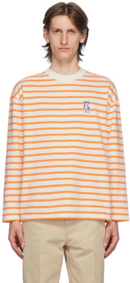 MAISON KITSUNÉ Orange ACIDE Fox Patch Long Sleeve T-Shirt