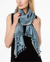 Eileen Fisher Organic Cotton Blend Metallic-Stripe Shawl