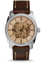 Fossil Machine Automatic Brown Leather Watch