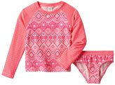 Osh Kosh Baby Girl Geometric Rashguard & Bikini Bottoms Swimsuit Set