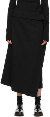 Regulation Yohji Yamamoto Black Gabardine Wrap Trousers