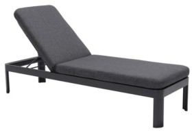 Armen Living Portals Outdoor Chaise Lounge Chair and Cushions