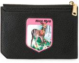 Miu Miu zipped purse - women - Goat Skin - One Size