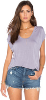 Velvet by Graham & Spencer Olivia Modal Knit V Neck Top