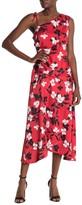 BCBGMAXAZRIA One Shoulder Floral Print Dress