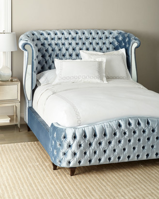 Haute House Brigitte Tufted Mirror Panel King Bed